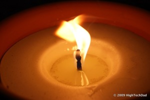 flickering candle